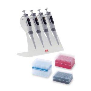 Zestawy zawierające 4 pipety automatyczne HTL